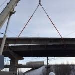 Монтаж мостового пролета.