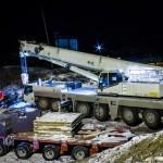 кран 250 тонн работает в ночную смену