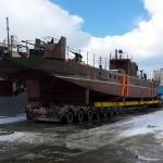 Погрузка 45 тонного катера